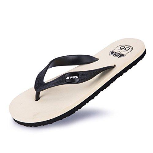 Men's Sapatos Masculino Flip Flops Flatform Beach Slippers Black