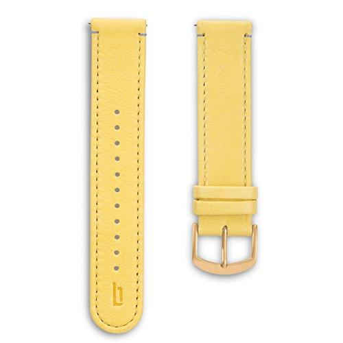 Lilienthal Berlin - Made in Germany – Wechselarmband, vegetabil gegerbtes Leder L1 (Farbe: primrose