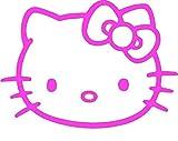 XXL hello kitty, Aufkleber vinyl, (20x15cm), / high quality product !!! Konturgeschnitten, Farbintensiv, mind. 7 Jahre Wetterfest !!! + Farbwahl (pink)