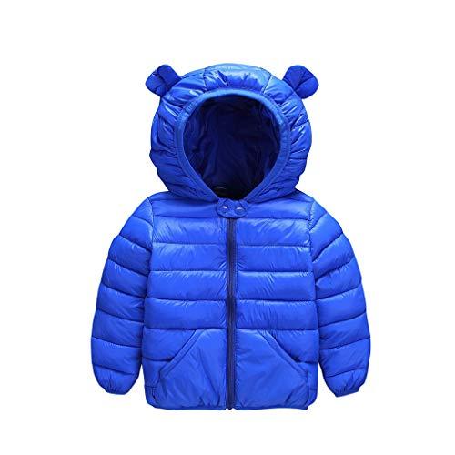Kleinkind Blauen Tragen Mantel Kostüm - feiXIANG Kleinkind Mantel Mit Kapuze Winter Solide Mädchen Jungen Infant Toddler Outwear Winddichter Jacke(Blau,100)