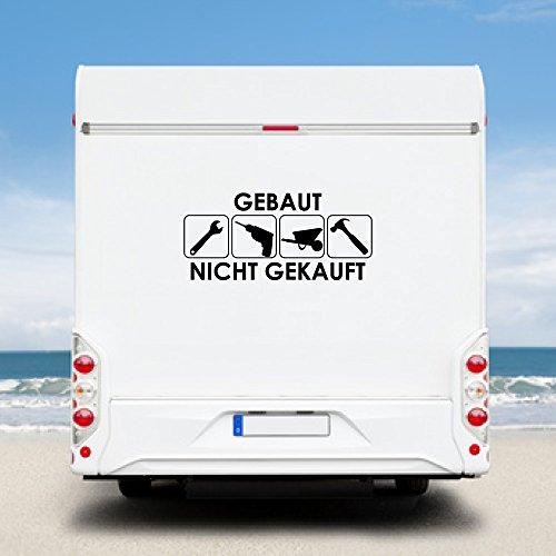 WA15 Clickzilla - Wohnmobil Aufkleber - Wohnwagen - Gebaut nicht gekauft