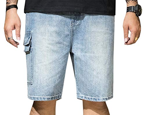 security Herren Jeans Shorts Relaxed Fit Big and Tall Casual Cargo Denim Shorts Gr. XS, 1 -