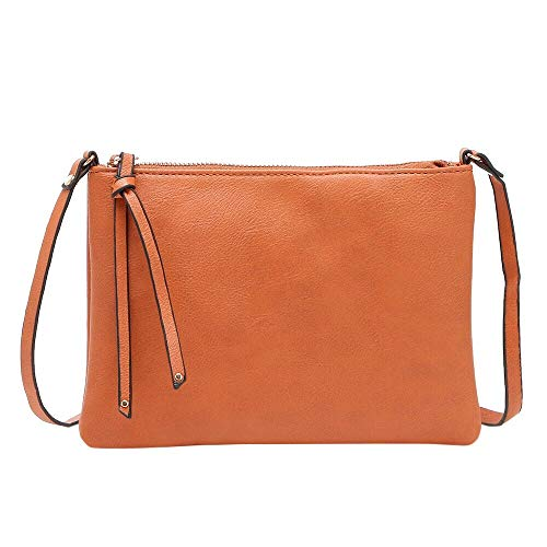 Faux-leder-satchel (YWLINK Damen Faux Leder Retro Handtasche Satchel ReißVerschluss UmhäNgetasche Kuriertasche(Braun))