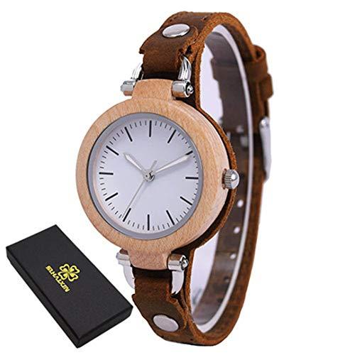 Dame Casual Vogue Design Kleine Armband Frauen Holz Quarz Uhren Top MäDchen Handuhr Geburtstagsgeschenk White Watch Box