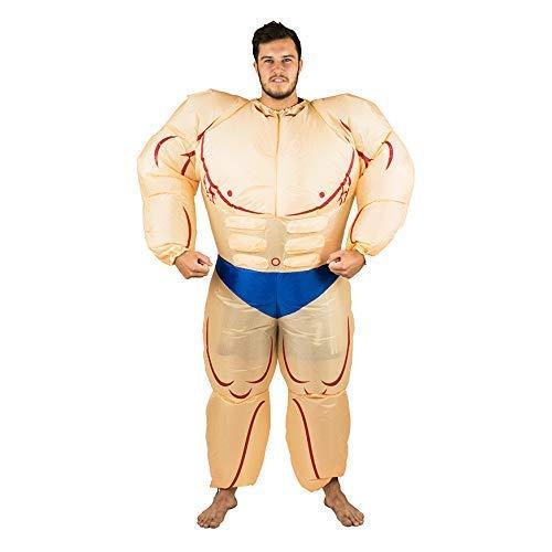 Bodysocks® Aufblasbares Bodybuilder Muskel Mann Anzug Kostüm für (Zirkus Kostüm Männer)