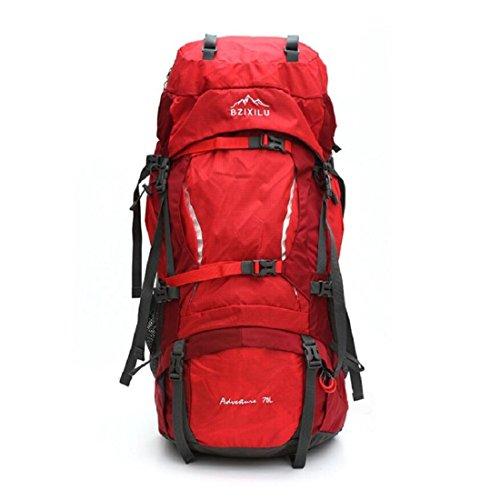 Z&N Backpack Hochwertiges Nylon GroßE KapazitäT 70L Unisex Profi Outdoor Sport Bergsteigen Rucksack Camping Wandertasche Rucksack Klettern GepäCk Tasche B