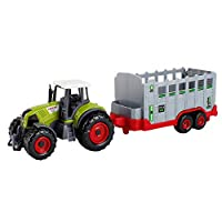 ALIKEEY Educational Toys for Kids, Engineering Tractor Tank Trailer Education Puzzle Vehicle Toy Farm Car Model B
