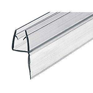 Gedotec junta de puerta de cristal junta de cristallabio cabina | PVC transparente | 100 cm |ducha vidrio de 8-10 mm de grosor | Puertas de ducha con reborde de sellado de 1000 mm – 1 pieza