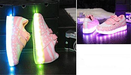 Frauen Neuen die Schuhe Leucht Usb Männer Handtuch Emittierende Sieb Und C23 Leuchtet Licht lampe Koreanischen kleines Led lade ZEvxxn