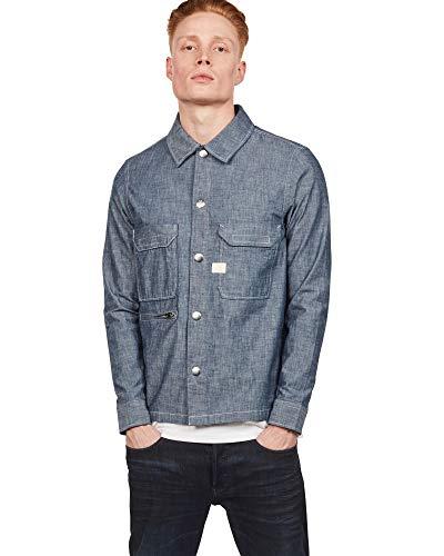 Chambray-utility Shirt (G-STAR RAW Herren XPO Utility Straight Hemd)
