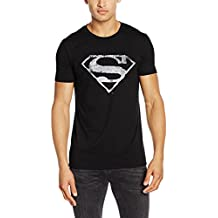 Superman Logo Mono Distressed, Camisetas para Hombre