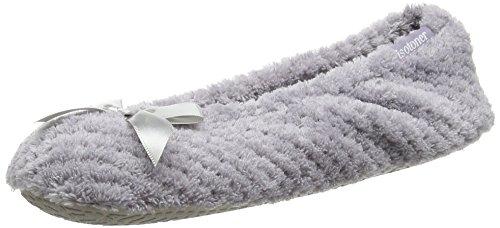 isotoner-98972lavsama-pantofole-chiuse-donna-grigio-pale-grigio-36-37-eu