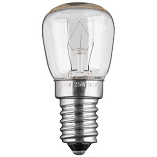 Oven bulb: E14?25W - 230 V AC