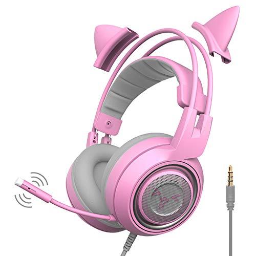 Somic Headset Computerspiel-Headset Surround Sound Noise Cancelling Lautstärkeregelung Gaming-Kopfhörer für PS4, PC, Xbox One, Switch Gamesfür PS4, PC, Xbox One, Switch Games