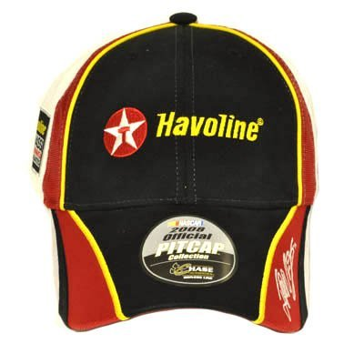 juan-montoya-42-havoline-white-black-cap-hat-nascar-new-by-chase-authentics
