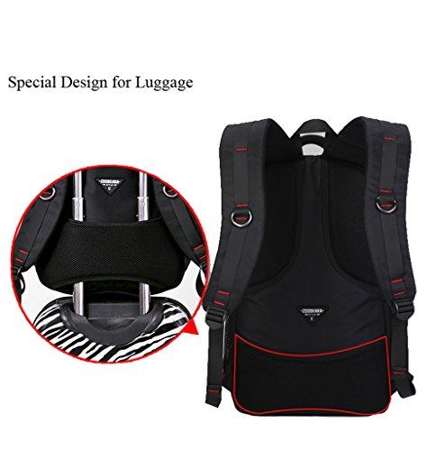 Super Moderne Oxford Outdoor Rucksack Sport Rucksack Camping Rucksack Laptop-Tasche schwarz