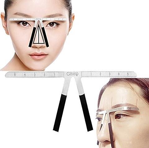 Augenbrauen-Lineal, Wiederverwendbare Augenbraue Gleichgewicht Lineal Drei-punkt-Position Verwendungierung Gleichgewicht Augenbraue-Formen Stencil Werkzeuge Make-up Augenbrauen (Augenbraue-formen Stencils)