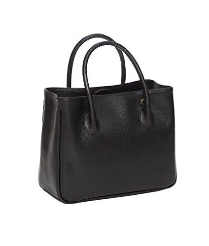 """Winter & Co. Daybag """"M"""" Designer Damen Handtasche kleine Tasche aus edlem Leder Umhängetasche mit Schultergurt perfektes Geschenk clean zeitlos elegant funktional handgefertigt in Italien schwarz"""