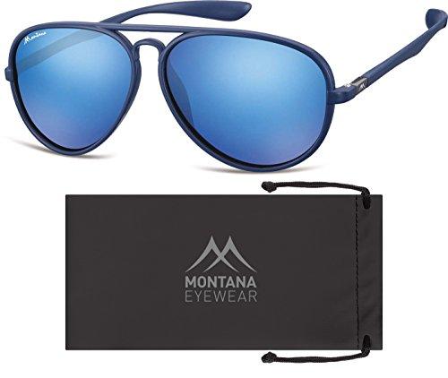 Montana Eyewear Sunoptic MS29B Sonnenbrille in blau, inklusive Stoffbeutel