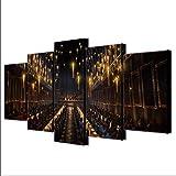 JRDWLH Stampe e Quadri su Tela Wall Art HD Stampa Immagini 5 Pezzi Home Living Room Decoration Film Harry Potter Canvas Poster (A) con Cornici