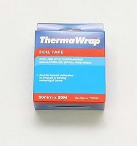 Thermawrap Ruban d'aluminium adhésif pour isolation étanche 20 m x 50 mm x 20 x 30 m