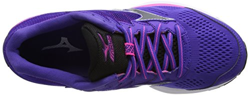 Mizuno Wave Rider 20 (W), Scarpe da Corsa Donna Viola (Liberty/black/electric)