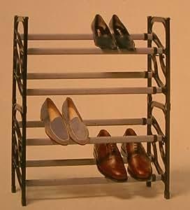 etagere a chaussures plastique 12 a 20 paires - empilable et extensible