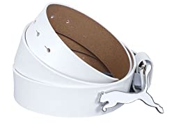 Puma Mens White Leather Belt (5207902-XL)