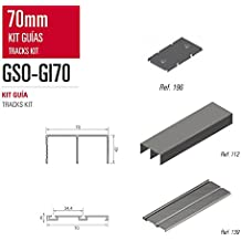 Kit de Guias para armario Adinor GSO-GI70 LACADO BLANCO BRILLO RAL 9010 2 mts