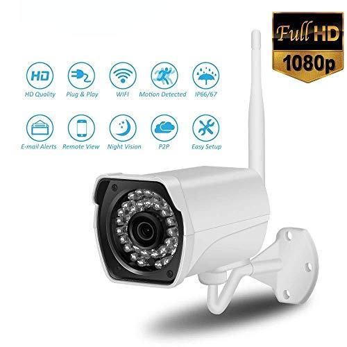 XINCH-MONITOR 1080P FHD WiFi IP-Kamera 2MP Outdoor Wireless wasserdicht Vedio Surveillance Support Zwei-Wege-Audio und Remote Motion Detect Alert Motorola Wireless Home Network