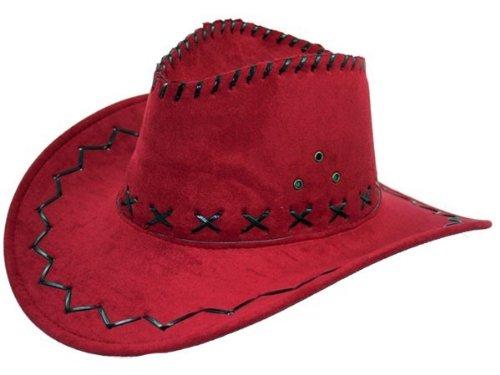 Preisvergleich Produktbild COWBOYHUT WESTERNHUT AUSTRALIEN TEXAS HUT alle farben, farbe:rot 07