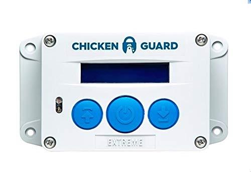 ChickenGuard Extreme Automatische Türöffner für den Hühnerstall, Automatische Hühnerklappe mit Timer und Lichtsensor, Direkt vom Hersteller. Hebt Hühnerstall-Türklappen bis zu 4kg