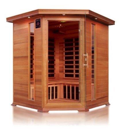 Outdoor-infrarot-sauna (VB Italia–Infrarot Sauna und Karbonfaser Panels für 4Personen mit Winkel)