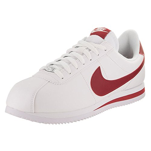 Nike Youth Cortez Basic Synthetic Trainers Weiß Rot