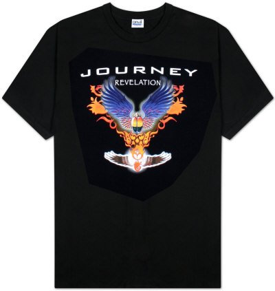 Old Glory Journey - Mens Revelation T-Shirt Medium Black (Adult T-shirt Album-cover)