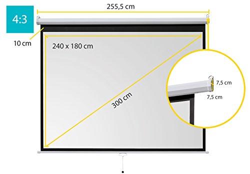 ivolum Rolloleinwand 240 x 180cm Nutzfläche   Format 4:3 - 2