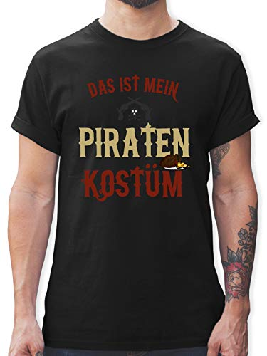 Karneval & Fasching - Das ist Mein Piraten Kostüm - L - Schwarz - L190 - Herren T-Shirt ()
