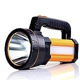 Projecteur portatif à LED super lumineux de poche extérieure de lampe torche 7000 lumens 9000mAh USB rechargeable lampes de poche IP65 lumière imperméable de torche de projecteur avec 5 modèle léger