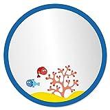 decoloopio 1351Spiegel Kinder Blase Ozean Glas transparent 30x 30x 30cm