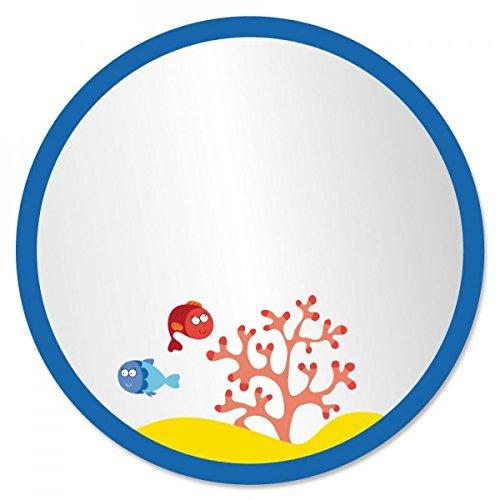 Decoloopio 1351 - Espejo infantil (medidas: 30 x 30 x 30 cm), diseño de burbujas