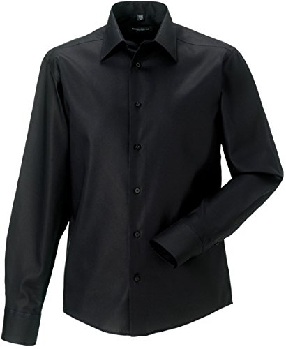 Russell Collection - Chemise homme coupe moderne sans repassage Russel Black