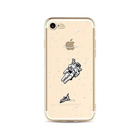 iPhone 6S Hülle,iPhone 6 Case,iPhone 6/6S (4.7 Zoll) Silikon Gel Schutzhülle, MUTOUREN Transparent Durchsichtig TPU Silikon Bumper Case Soft Gel Crystal Cover Hülle Ultra Slim Dünn Flexible Protective Schutzhülle Handy Tasche Etui Cover für Apple iPhone 6/6S (4.7 Zoll), Weltraum (Astronaut Kleidung)