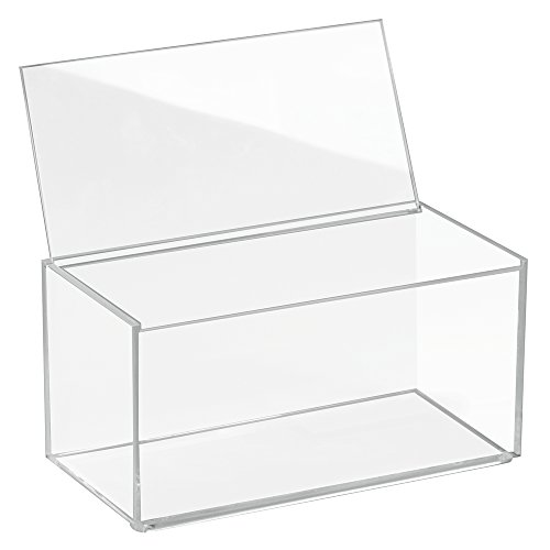 InterDesign 39650EU Clarity Aufbewahrungsboxmit Deckel Groß, 10 cm Hoch, durchsichtig