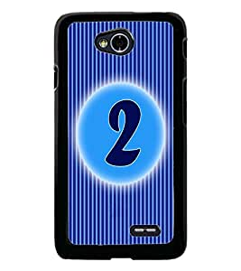 PrintDhaba Numerology Number 2 D-2557 Back Case Cover for LG L90 (Multi-Coloured)
