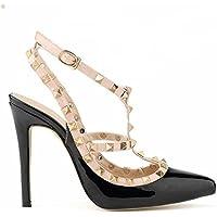 Fashionista Scarpe da Donna con Stilile Rivetto ,con Materiali Mettalo Tacco Alto Colorato con Colori Fashion. Scegli un misura in piu