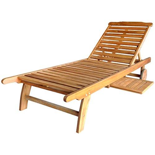 Bentley Outdoor Bain de Soleil/transat en Bois balau - pour Patio et Jardin