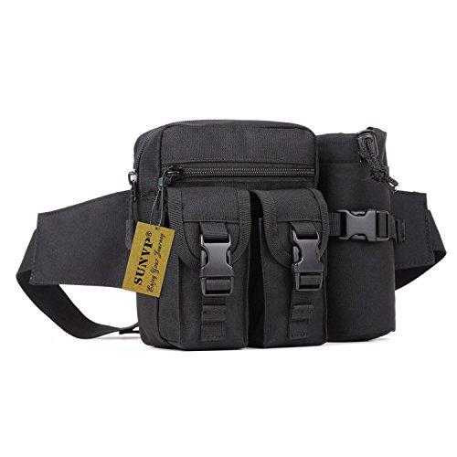 c062bf169e965 SUNVP Tactical Wasserflasche Beutel Molle Military Fanny Pack Tasche  Wasserdichte Taille Wasser Halter Rucksack Bum Bag