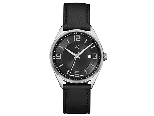 Mercedes-Benz–Reloj de pulsera hombre, elegante Basic, piel