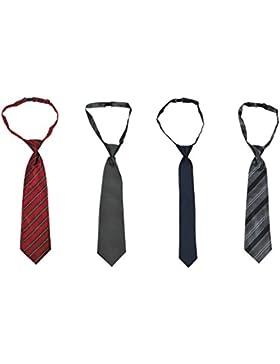 Paquete de 4 piezas de corbatas para niños (de 0 a 6 años o de 7 a 14 años)