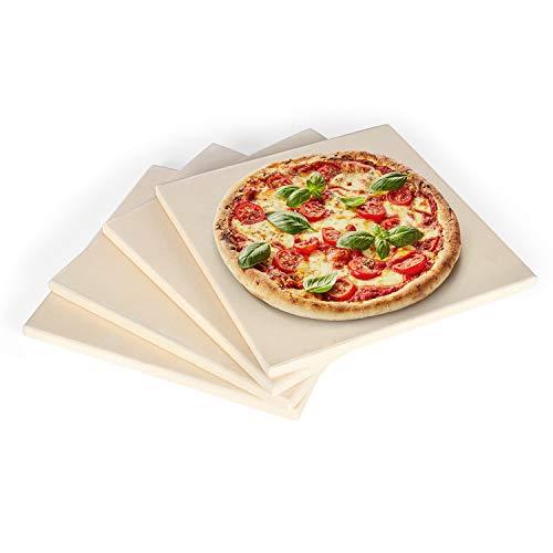 Rustler RS-5838 Pizzastein 4er Set, quadratisch |19 x 19cm, Natur, 19x19 cm